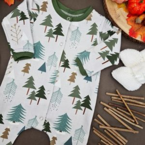 Frosted Forest Button Down Romper